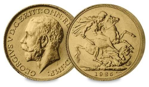 1925 Dated George V Sovereign