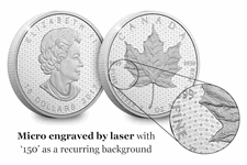 Issued by the Royal Canadian Mint, this 2oz .999 silver coin celebrates 150 years of confederation. Struck to a matte proof finish, is limited to a mintage of 6,000 and has a denomination of $10.