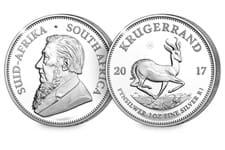 This special edition coin has been issued to celebrate the 50th anniversary of the Krugerrand and has been struck in silver for the first time. Features 50th Anniversary Privy Mark.