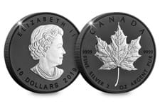 This limited edition piece celebrates the 30th anniversary of Canada's world-famous silver bullion coin, the Silver Maple Leaf. This special edition has a unique black rhodium-plated finish.