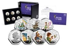 This Silver Proof 50p Set is part of the second release of the famous 50p coins, celebrating the 90th Anniversary of Peter Pan being gifted to Great Ormond Street Hospital. The set includes 6 50ps.