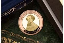 To commemorate the 150th Anniversary of the death of Charles Dickens, this special Gold £2 has been issued by Jersey, featuring a portrait of Dickens. Struck from 22 Carat gold to a proof finish.