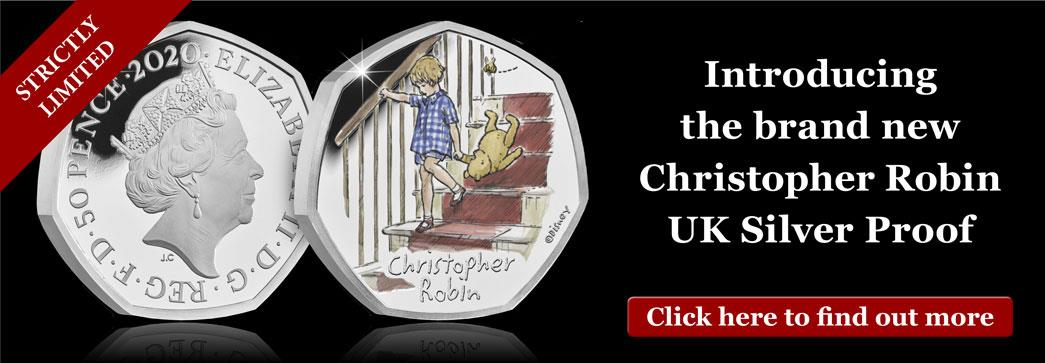 Own the NEW Christopher Robin Silver 50p today...